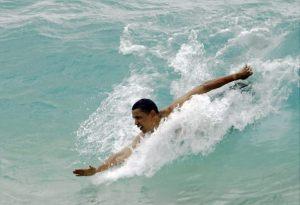 Obama -at beach __