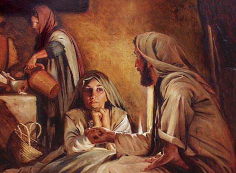 christ teaching martha and mary anton dorph