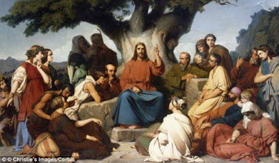jesus prega aos fiéis