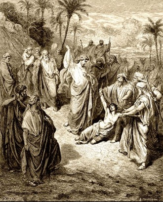Jesus ameaçou o demônio e este saiu do menino, que ficou curado na mesma hora