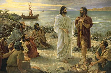"""29 Então perguntou-lhes Jesus: """"E vós, quem dizeis que eu sou?"""" Respondeu Pedro: """"Tu és o Cristo""""."""