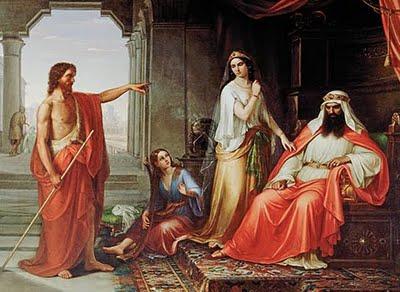 """Resultado de imagem para João tinha dito a Herodes: """"Não te é permitido ter a mulher de teu irmão""""."""